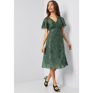 Modcloth x Anna Sui Vision of Bliss Green Dress